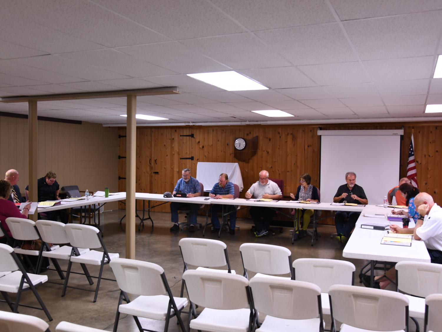 The New Concord village council met Monday night for their monthly breakdown of community matters.