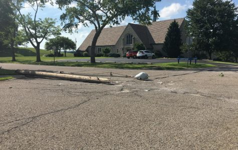 Downed wires block road in Zanesville