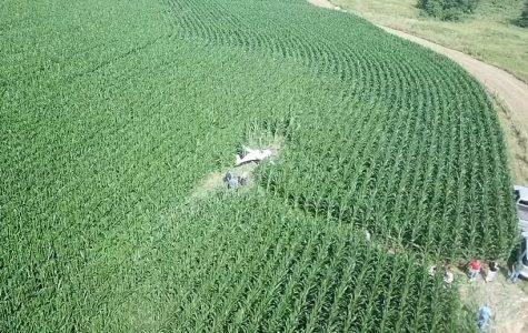 Small plane crashes in corn field near Sonora Road