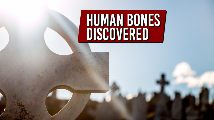 Man+discovers+human+bones+while+walking+in+cemetery
