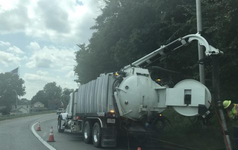 ODOT working off the roadway on Wednesday, Aug. 22.