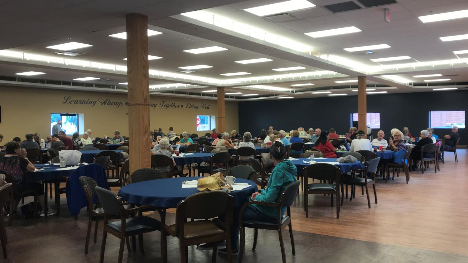 Seniors play Bingo at the Center for Seniors during the Friday morning game slot on Aug. 17.