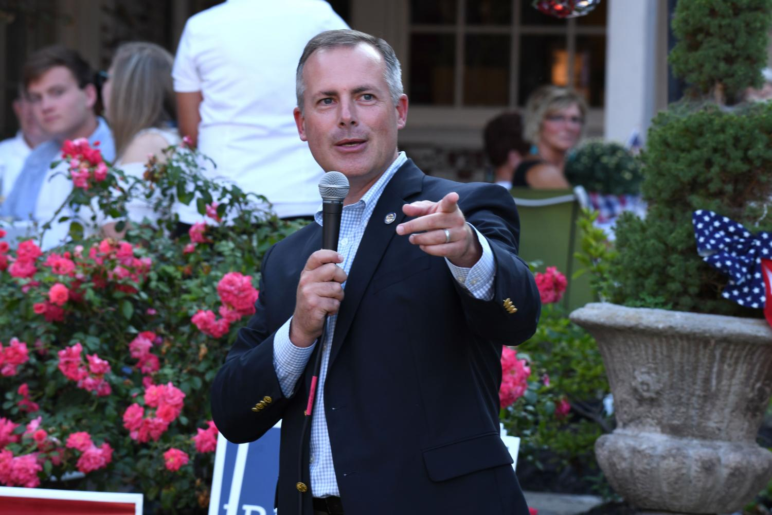 State Treasurer Robert Sprague at the 2018 Party on the Porch event.