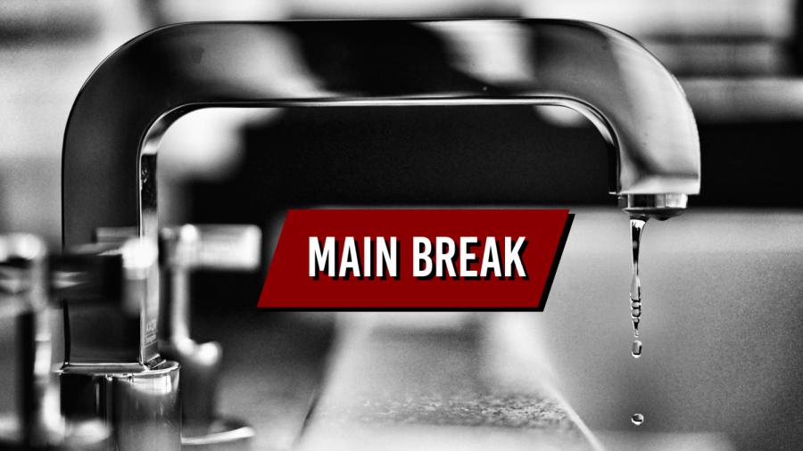 Water main break causes traffic detour
