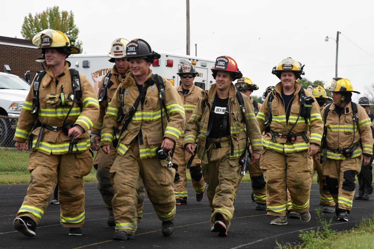 Firefighters from around the county walked during the first Fallen First Responder Walk last year.