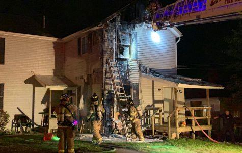 Duplex fire sends man to hospital