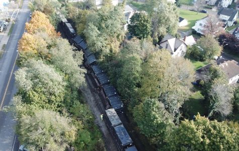Train derails along Maysville Avenue