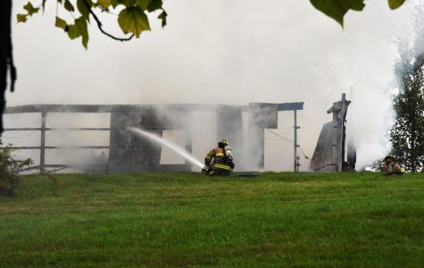 Garage burns to ground on Dow Cameron property