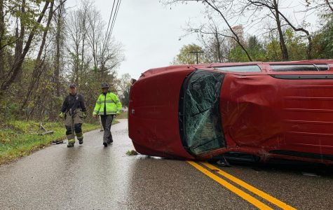 Ridge Road closed after rollover accident