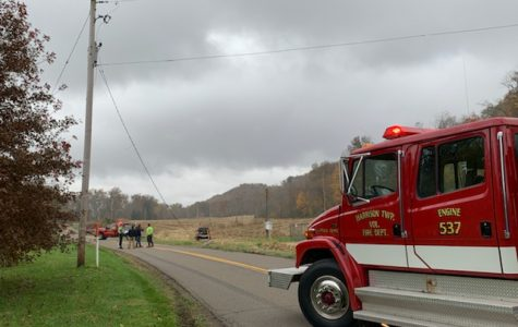Man hits AEP utility pole on Old River Road