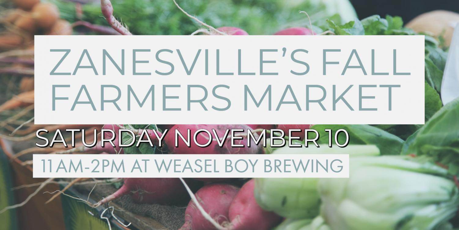 Graphic provided by the Zanesville's farmers market.