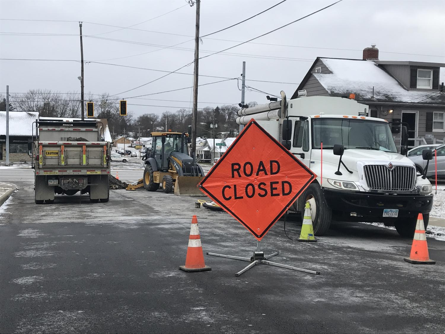 Columbia Gas of Ohio crews have been working to replace the service line since Thursday morning.