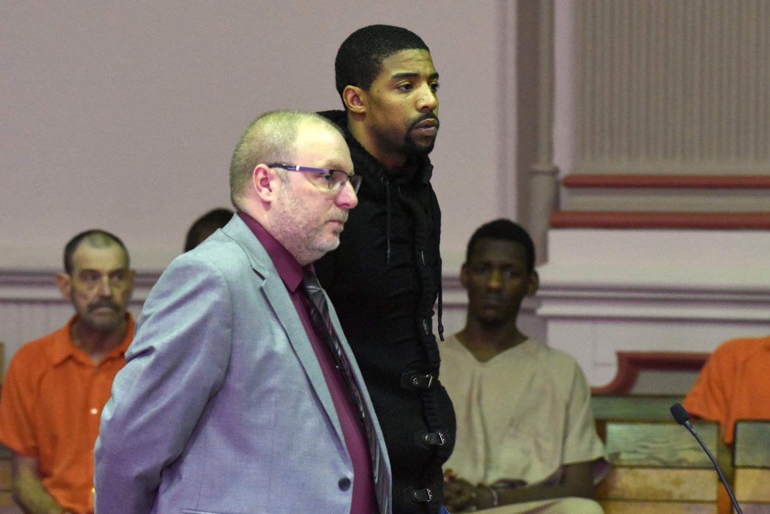 Devonte Kitchen, alongside defense attorney Keith Edwards, pleads guilty to all charges on Wednesday, Jan. 16 in Judge Mark Fleegle's court.