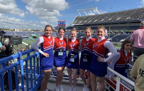 Five from Philo cheer at Citrus Bowl