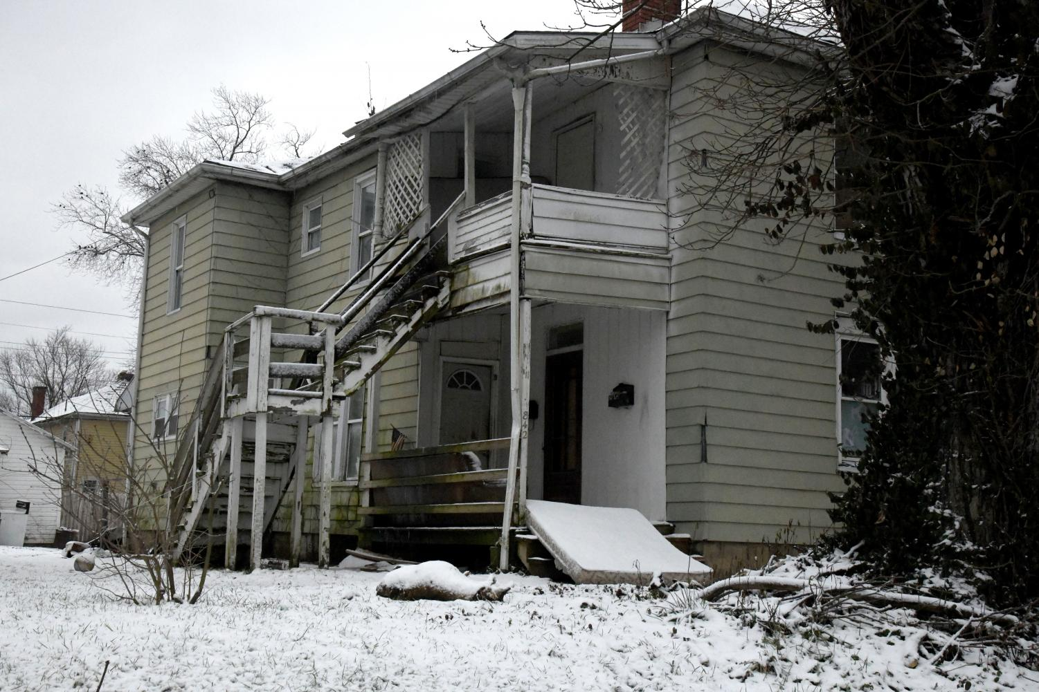 The house at 842 Dryden Rd. requires the assistance of police and fire resources for frequent disturbances.