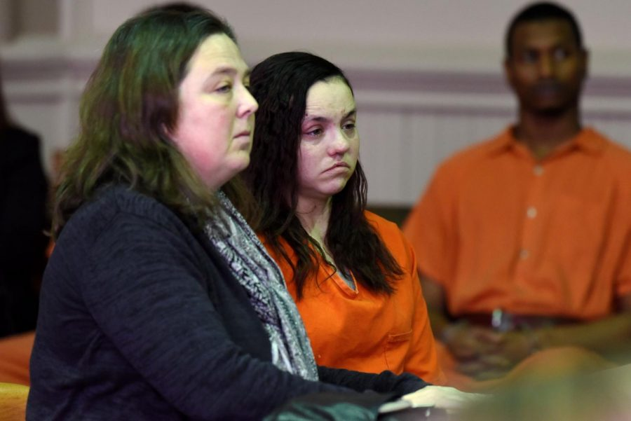 Samantha+Donohoe+%28left%29+appears+before+Judge+Mark+Fleegle+in+the+Muskingum+County+Court+of+Common+Pleas+for+her+competency+hearing+on+Wednesday+alongside+her+defense+attorney+Holly+Hanni.