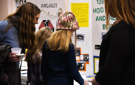 Youth display projects during 4-H Kick-Off