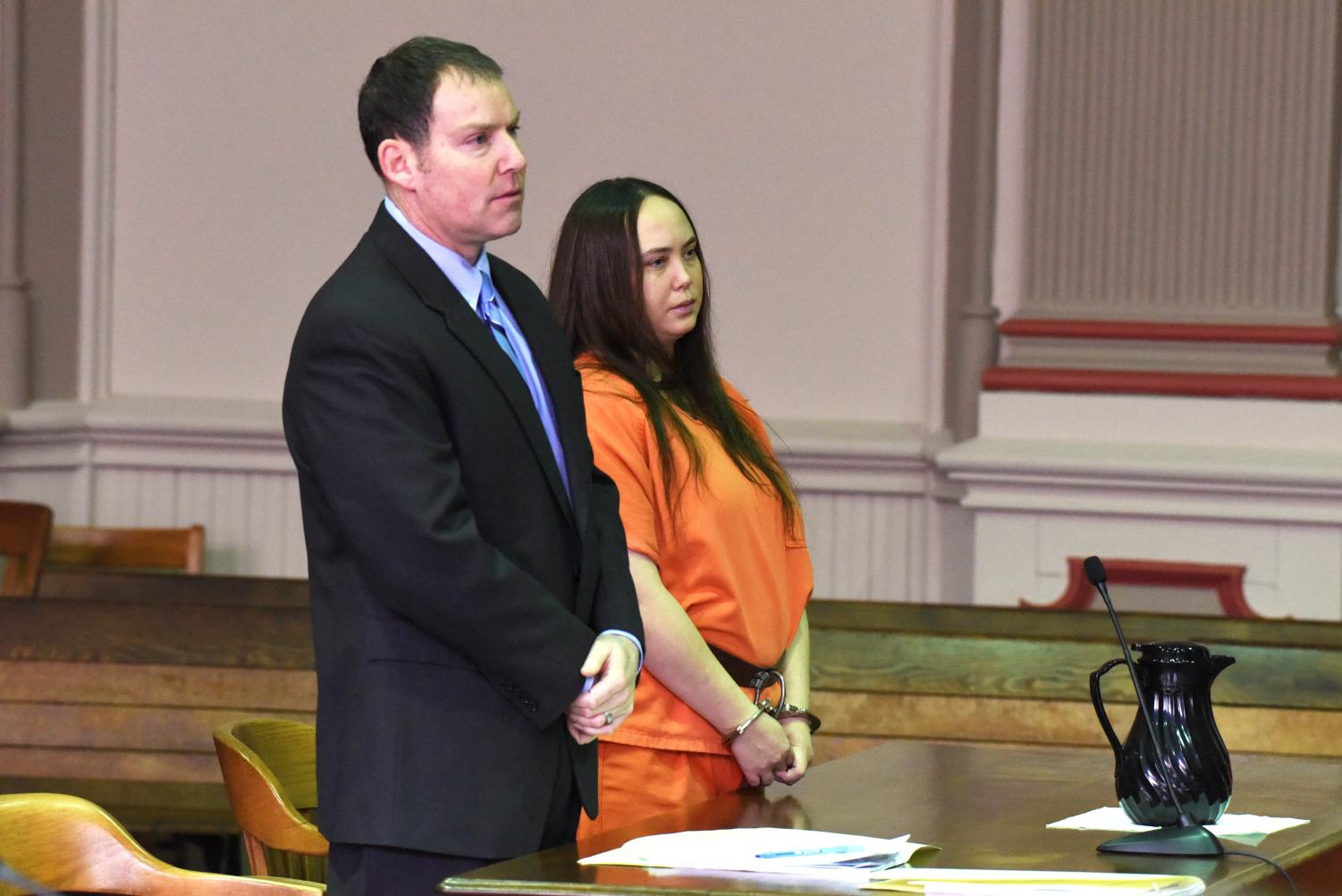 Hope Brugh pleaded guilty to 11 felonies Monday morning alongside her defense attorney David Mortimer in the Muskingum County Court of Common Pleas.