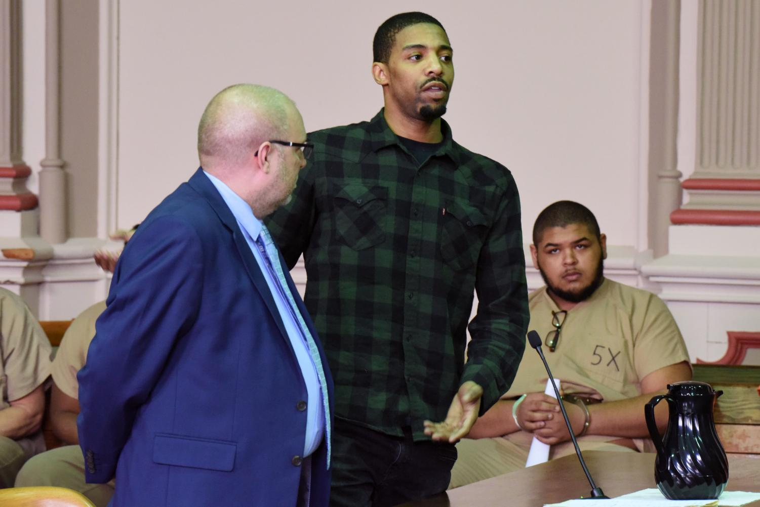 Facing multiple felony drug charges, Devonte Kitchen returned from Michigan to Muskingum County, alongside his family, for sentencing. Kitchen thanked his family for their unwavering support throughout this process.