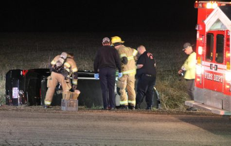 Rollover accident sends man to hospital