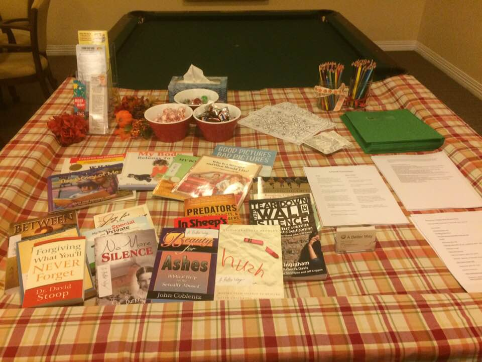 A resource table from A Better Way's 2018 seminar. More resources will be available at the Zanesville conference. | Photo provided by Hope Anne Deuck