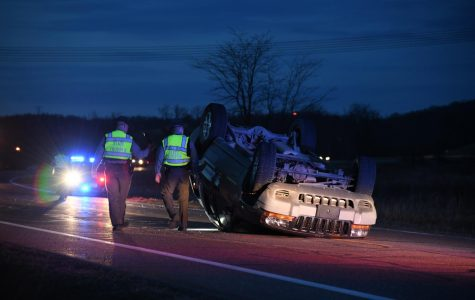 Rollover accident sends teens to hospital