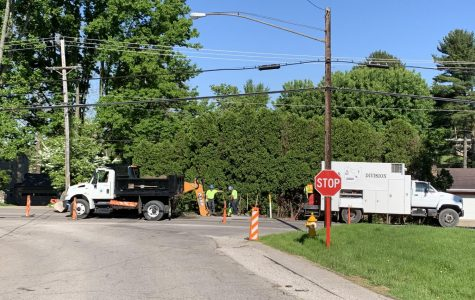 Traffic adjusted on Dresden for water work