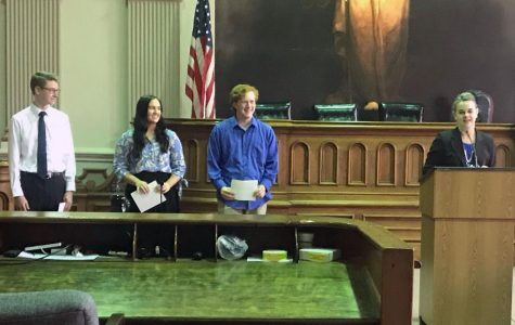 Bar Association awards three seniors college scholarships on Law Day