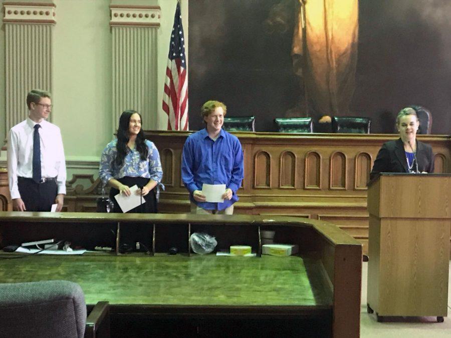 Bar Association awards three seniors college scholarships on
