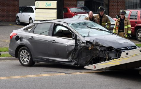 Driver says he fell asleep before striking pole, flipping car on Linden Avenue