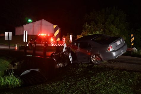 Man detained for possible OVI following crash into bridge early Sunday morning