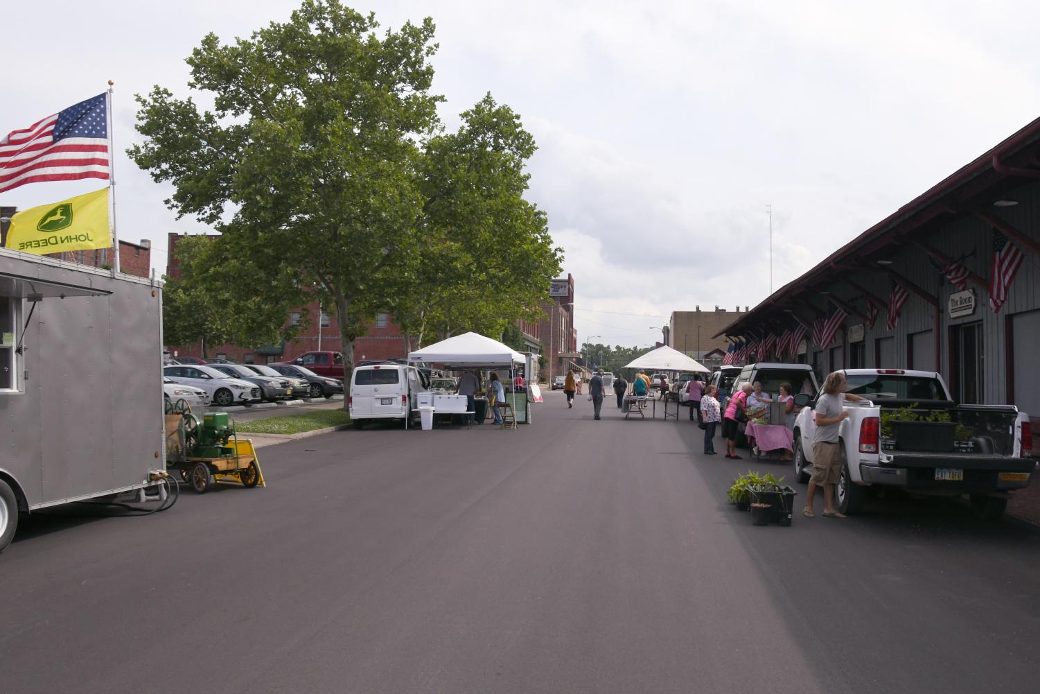 The Zanesville Farmers' Market hosted downtown on Wednesdays is moving from Third Street to Fourth Street.