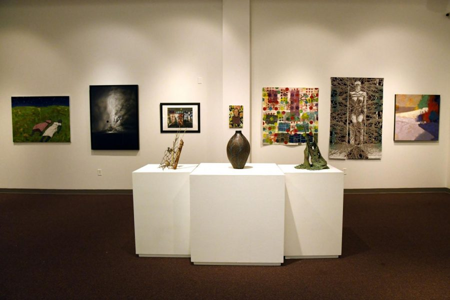 The+Zanesville+Museum+of+Art+prepares+for+the+74h+Ohio+Annual+Exhibition+opening+June+20.+Featured+center+is+Mr.+Oval+by+New+Concord+artist+Ken+McCollum.+