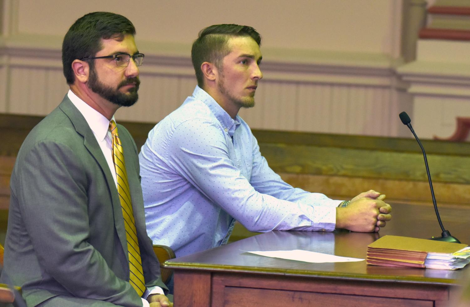 Dutch Bess, right, pleads guilty to one count of tampering with evidence following the overdose death of Clay Gorby two years ago.