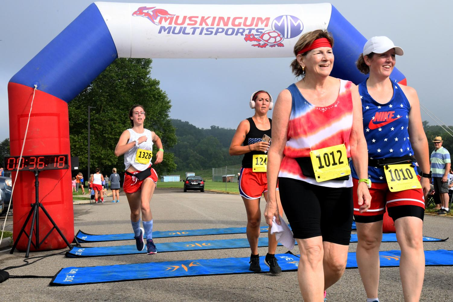About 222 of the 269 registered participants checked into the Red White & Run Thursday.