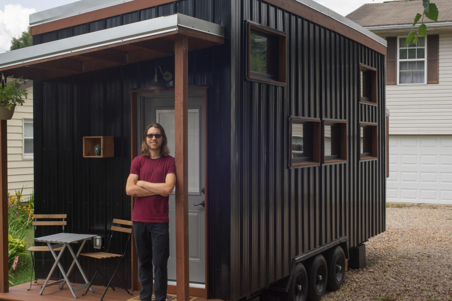 Jamie Hanks has spent the past two years building his newly-finished tiny house. Last month, he opened the house's door to guests looking for an alternative traveling experience.   Photo by Jonathan Hanks