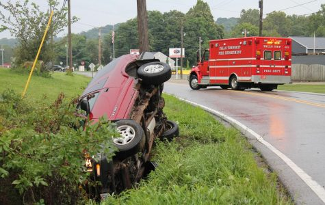 Driver cited following rollover accident