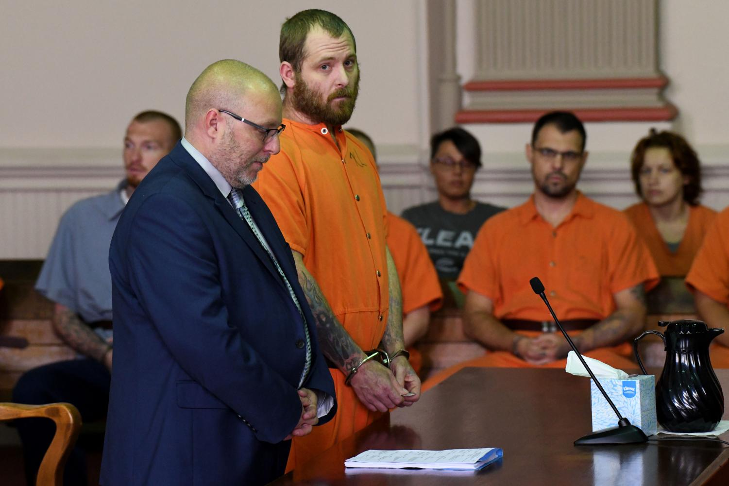 Derek Bush appeared in court on Wednesday, Sept. 11, for his arraignment.