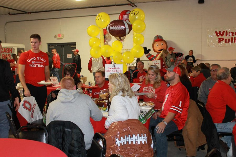 Photo+provided+by+Jenni+Materson+from+the+2018+Buckeye+Pep+Rally.+