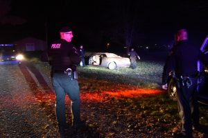 Five cuffed after fleeing cops, crashing stolen car into South Zanesville mayor's house