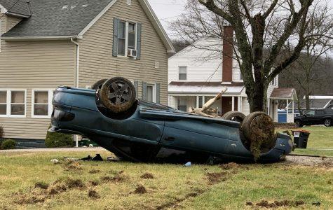 High-speed rollover sends man to hospital