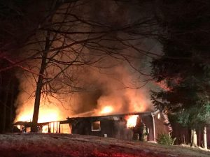 Overnight fire destroys house in northeast Muskingum County early Friday