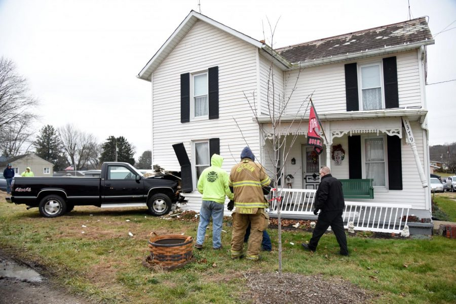 Pickup truck crashes into elderly Dresden woman's bedroom Tuesday afternoon