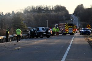 Two taken to hospital following three vehicle accident that shut down SR-93