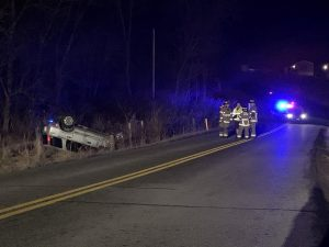 Rollover crash results in OVI