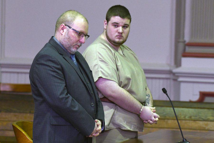 Michael Williams, 19, appears before Judge Mark Fleegle for sentencing.