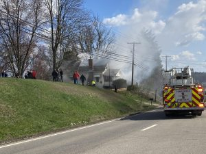 Several rescued from fire on East Pike