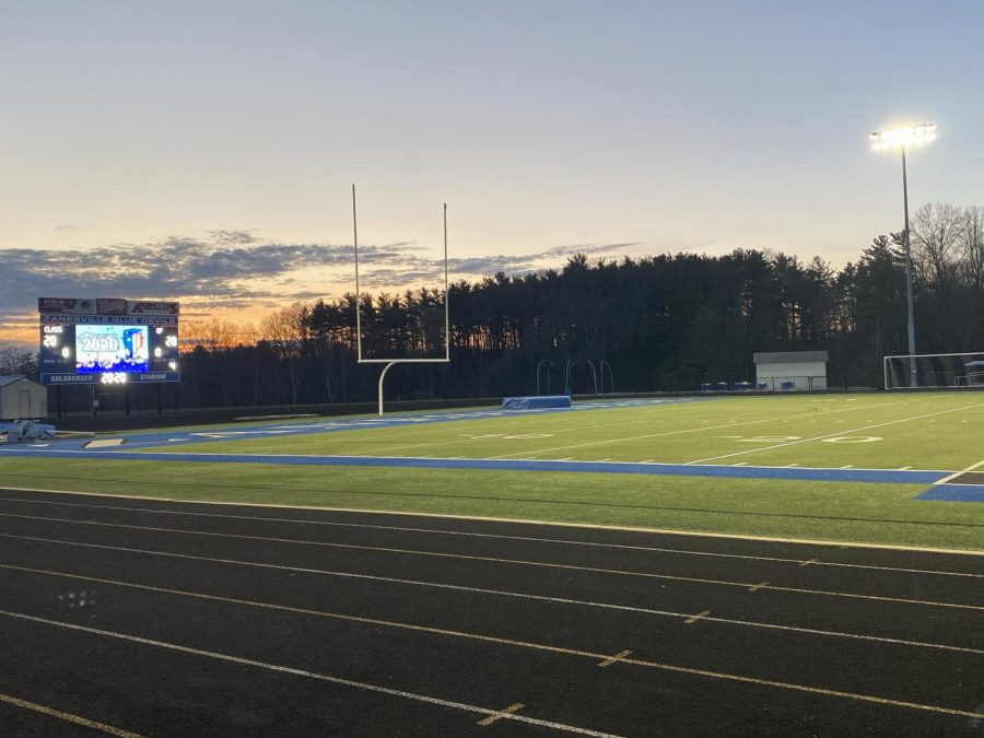 The lights of Sulsberger Stadium are fired up to honor the Zanesville High School class of 2020 Monday evening.