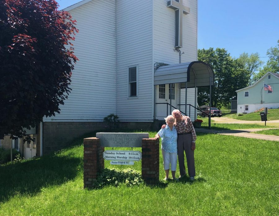Elinor and Loren Schwartzmiller return to the church where they were married 70 years ago.