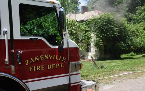 House catches fire Saturday afternoon in Zanesville along Mitchell Avenue